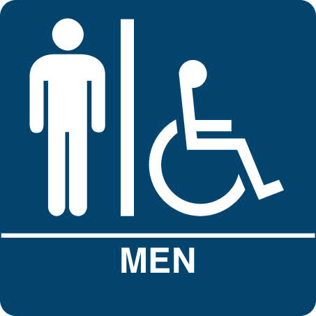 ADA Regulatory MEN S RESTROOM Signs With ISA Wheelchair Symbol