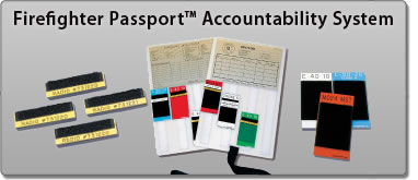 Firefighter Passport Accountability System, Radio Tags, Status Boards, Velcro Name tags and Passports
