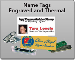 Name Tags and Name Badges by Tacoma Rubber Stamp